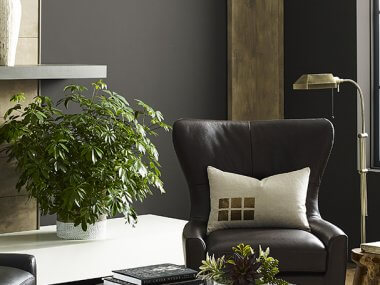Arraigado en la naturaleza, Urbane Bronze, De Sherwin-Williams crea una sensación de calma creando un santuario de color.