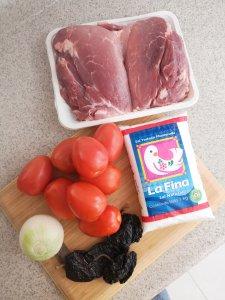 Ingredientes para la carne