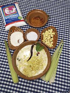 esquite con crema y queso