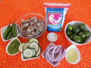 ingredientes para preparar aguachile